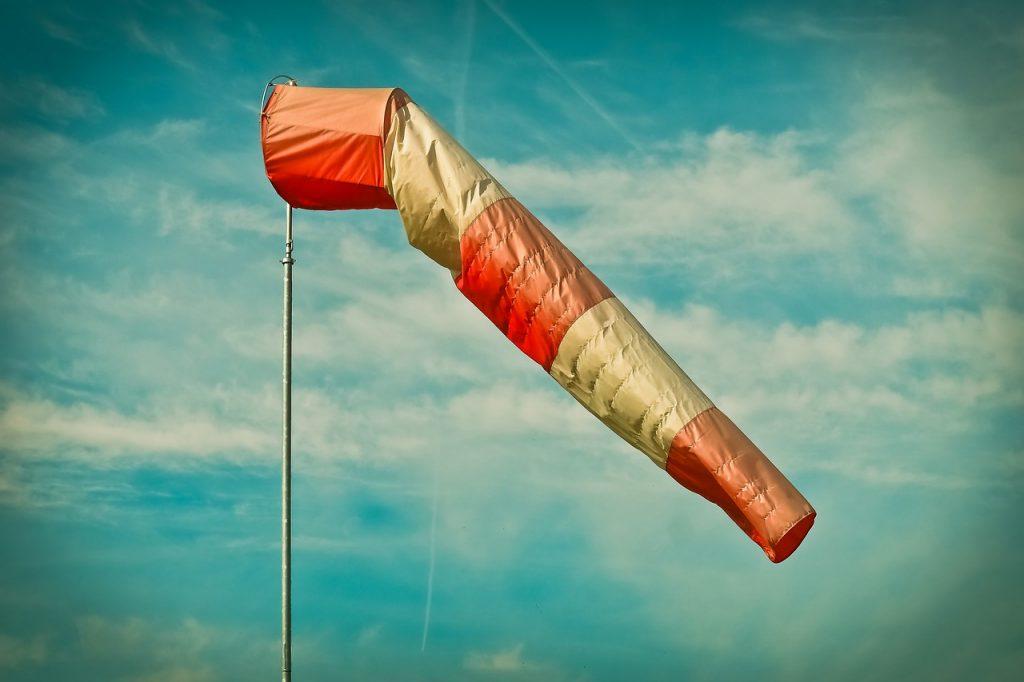 air bag, wind sock, weather