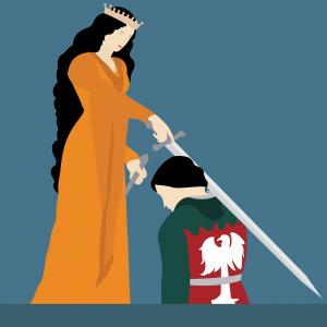 knight hood, queen, bishop