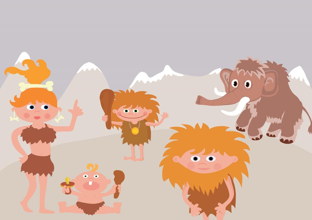 prehistory, mammoth, family