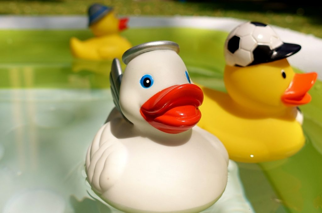 rubber ducks, quietscheenten, yellow