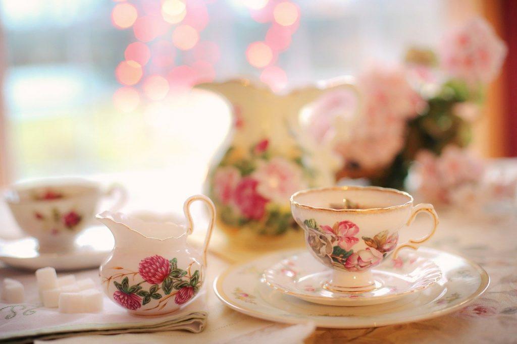 tea, tea party, pink