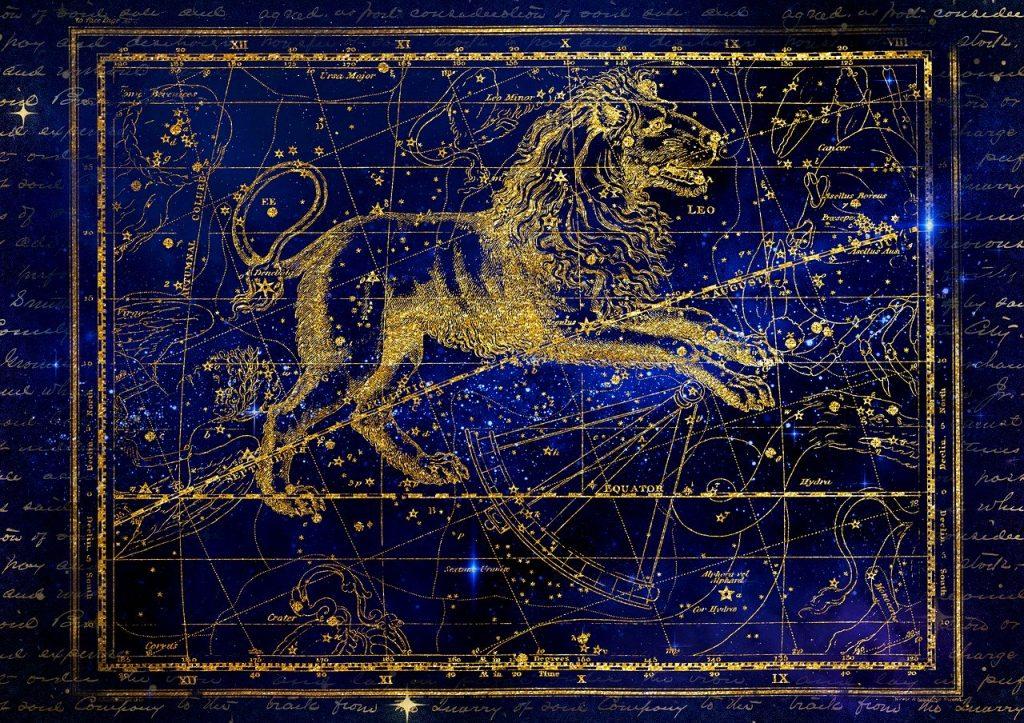 constellation, lion, zodiac sign