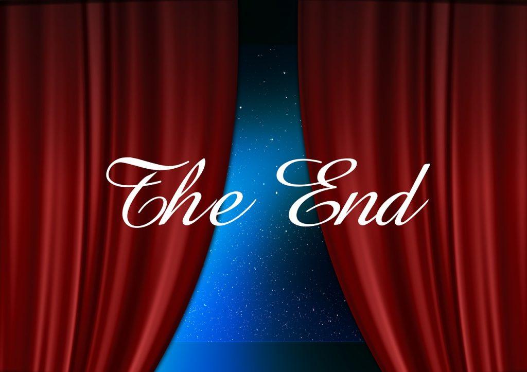 end, guy, cinema strip