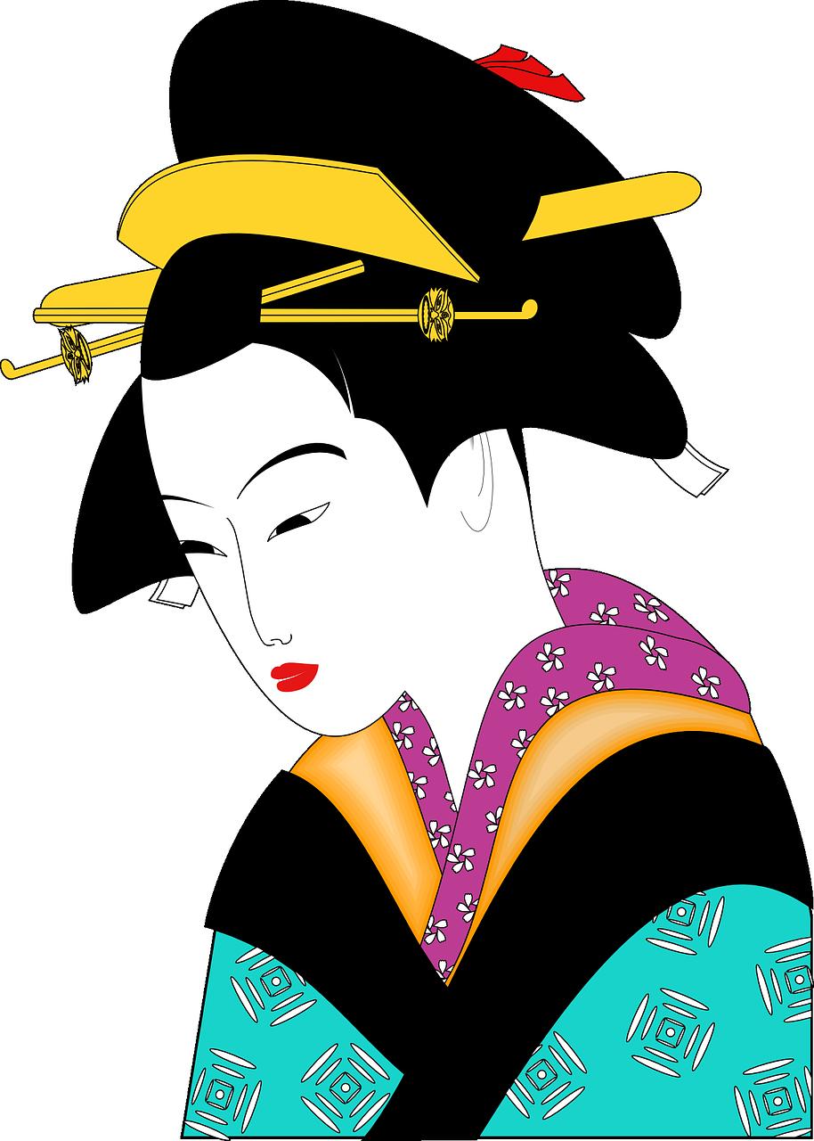 kimono, geisha, woman